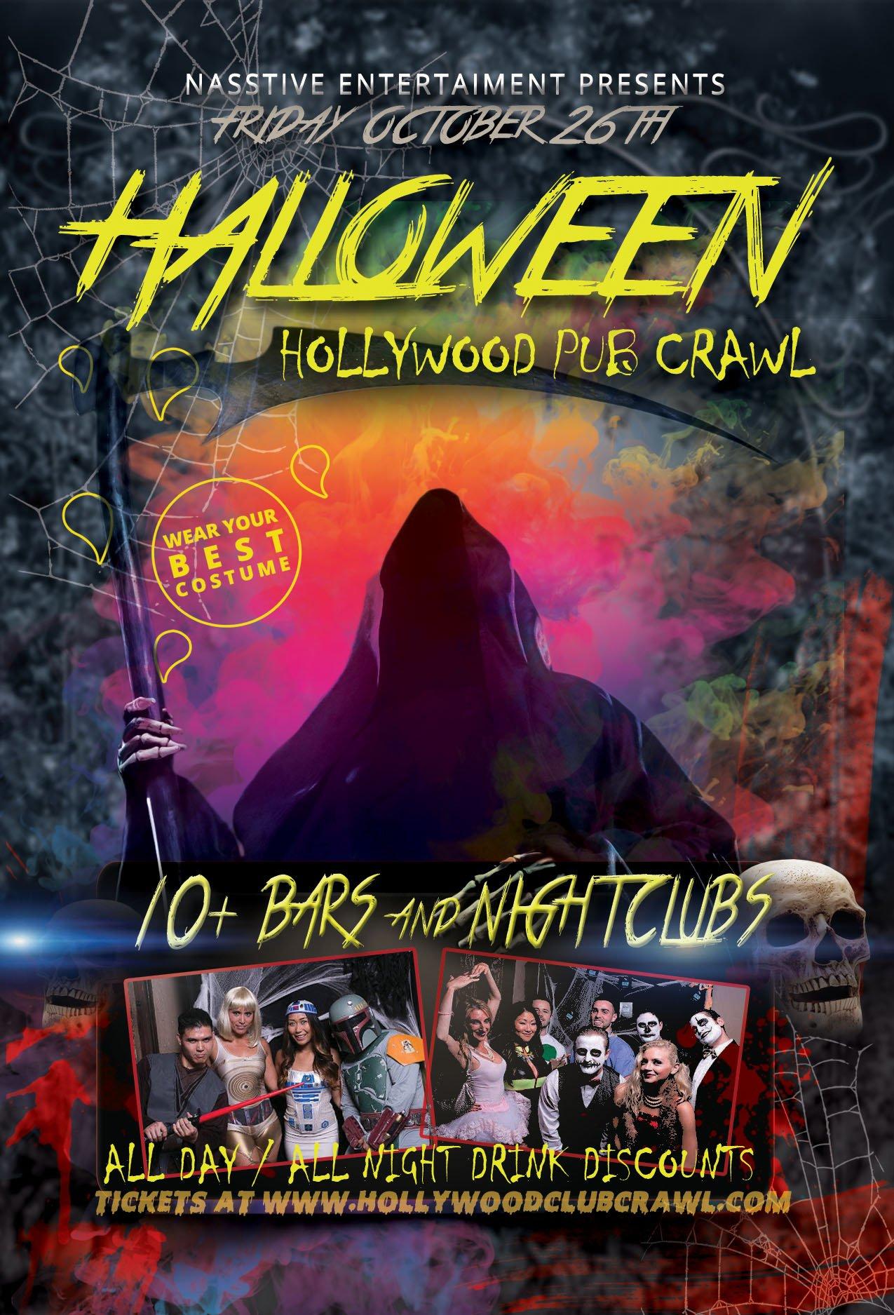 halloween events – hollywood club crawl