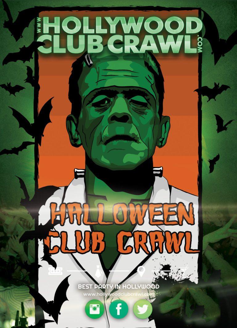 halloween night hollywood club crawl
