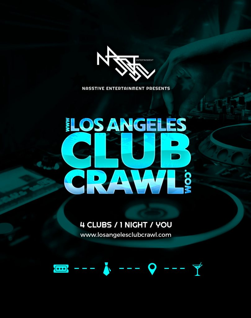 Los Angeles Club Crawl flyer