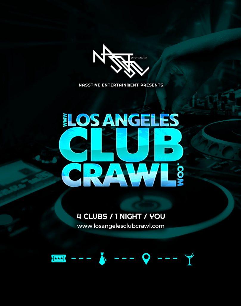 Los Angeles Club Crawl flyer