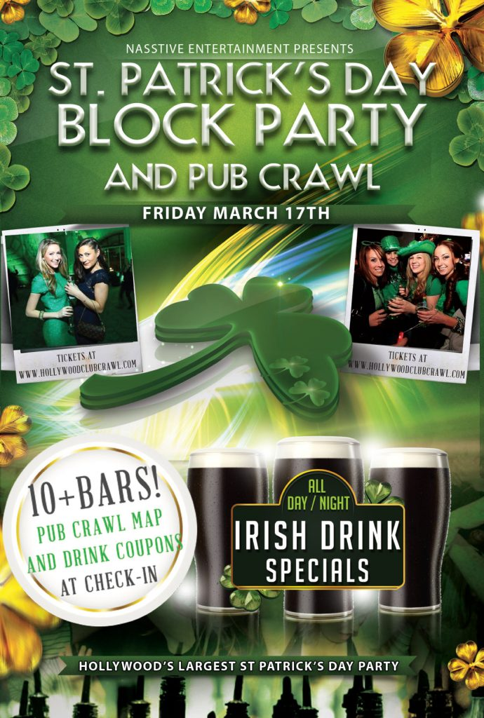 HCC St. Paddy's Day flyer FRONT